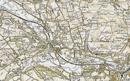 Old map of Bingley in 1903-1904