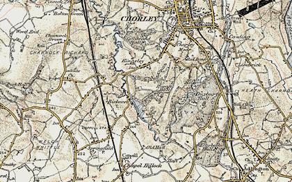Old map of Birkacre in 1903
