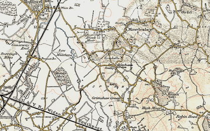 Old map of Bispham Green in 1902-1903