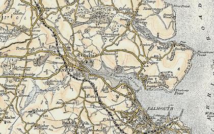 Old map of Bissom in 1900