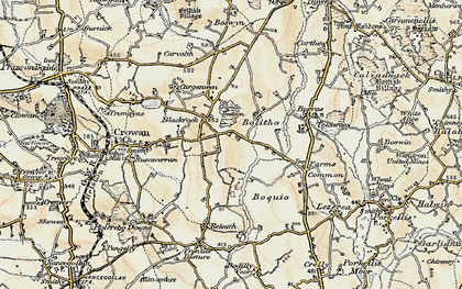Old map of Black Rock in 1900