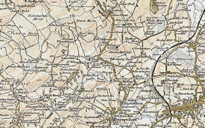Old map of Blacko in 1903-1904