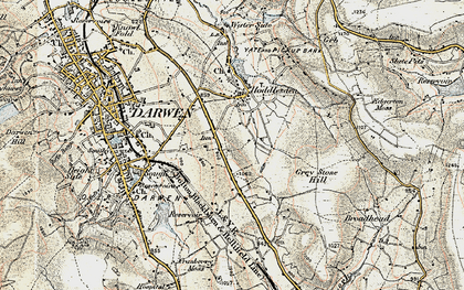 Old map of Blacksnape in 1903