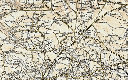 Old map of Blackwater in 1900