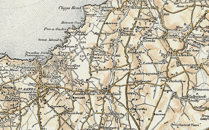 Old map of Blowinghouse in 1900