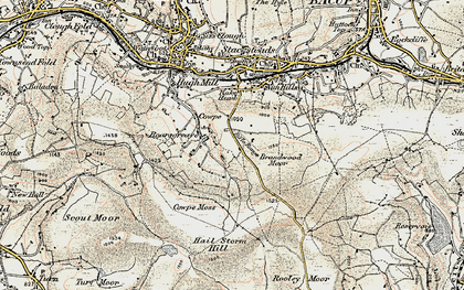 Old map of Boarsgreave in 1903