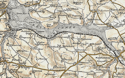 Old map of Bodellick in 1900