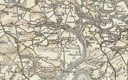 Old map of Bohetherick in 1899-1900