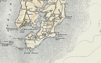 Old map of Bohortha in 1900