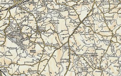 Old map of Bolenowe in 1900