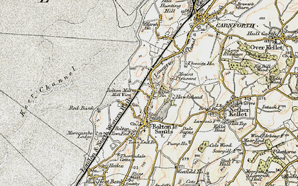 Old map of Bolton-le-Sands in 1903-1904
