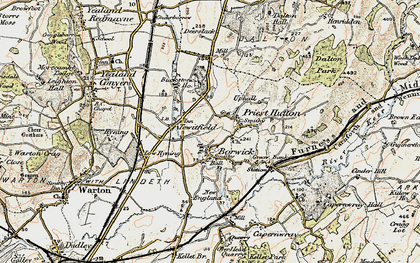 Old map of Borwick in 1903-1904