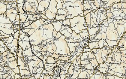 Old map of Boscadjack in 1900