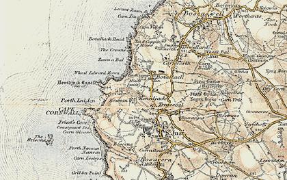 Old map of Boscean in 1900