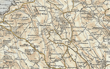 Old map of Boskednan in 1900