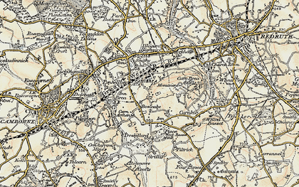Old map of Bosleake in 1900