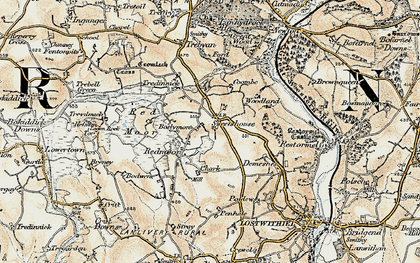 Old map of Boslymon in 1900