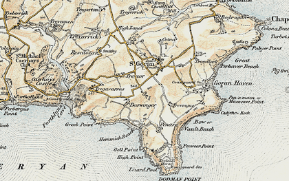Old map of Boswinger in 1900