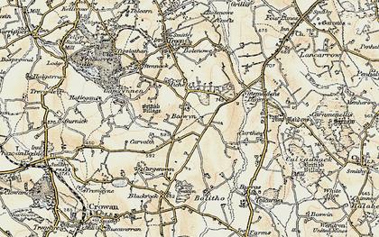 Old map of Boswyn in 1900