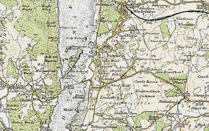 Old map of Bowness-On-Windermere in 1903-1904