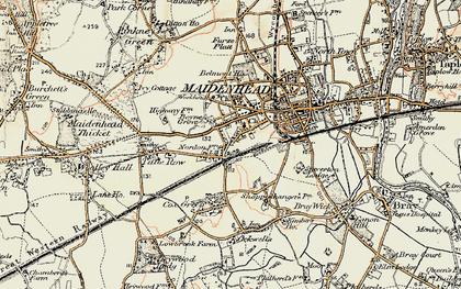 Old map of Boyn Hill in 1897-1909
