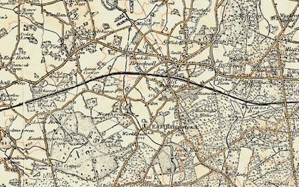 Old map of Bracknell in 1897-1909