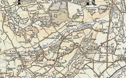 Old map of Bradfield in 1897-1900