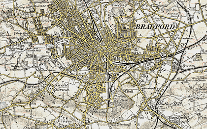 Old map of Bradford in 1903