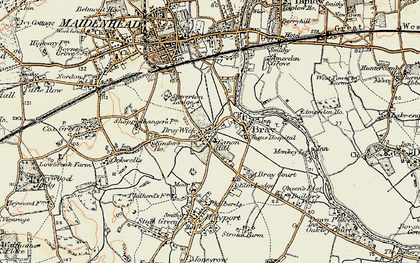 Old map of Bray Wick in 1897-1909