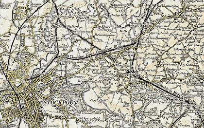 Old map of Bredbury in 1903