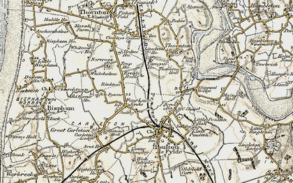 Old map of Breedy Butts in 1903-1904