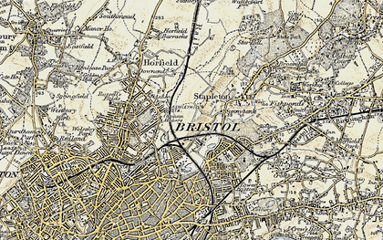Old map of Bristol in 1899