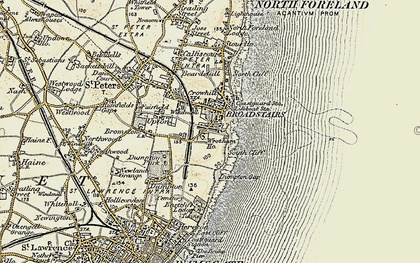 Old map of Broadstairs in 1898-1899