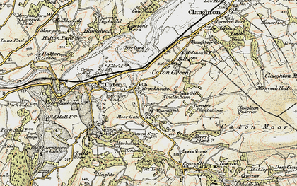 Old map of Brookhouse in 1903-1904