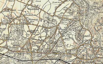 Old map of Brookside in 1897-1909