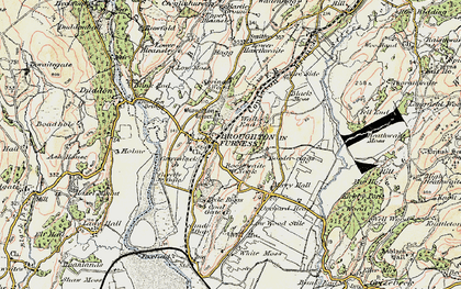 Old map of Broughton in Furness in 1903-1904