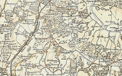 Old map of Bucklebury Alley in 1897-1900