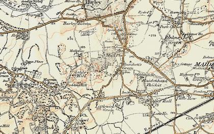 Old map of Burchett's Green in 1897-1909
