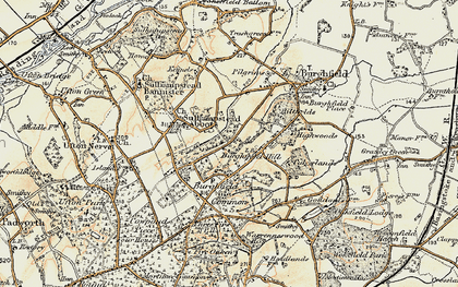 Old map of Burghfield Hill in 1897-1900