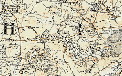 Old map of Burnt Hill in 1897-1900