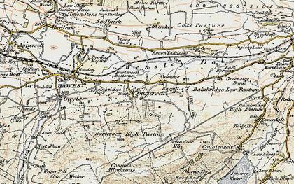 Old map of Burtersett in 1903-1904