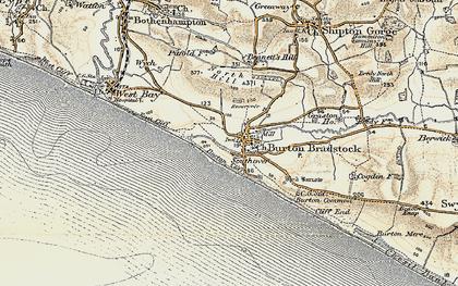 Old map of Burton Bradstock in 1899