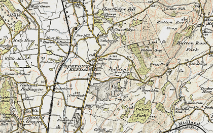 Old map of Burton-in-Kendal in 1903-1904