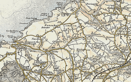 Old map of Cambrose in 1900