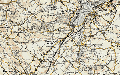 Old map of Canonstown in 1900