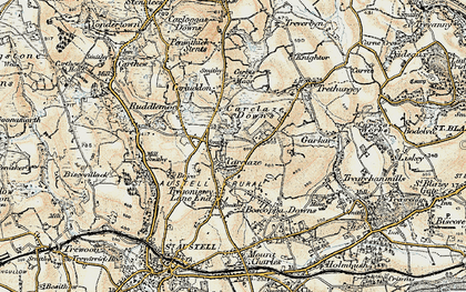 Old map of Carclaze in 1900