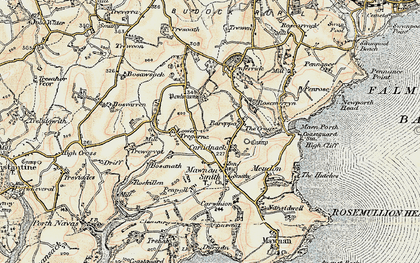 Old map of Carlidnack in 1900
