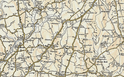 Old map of Carnebone in 1900
