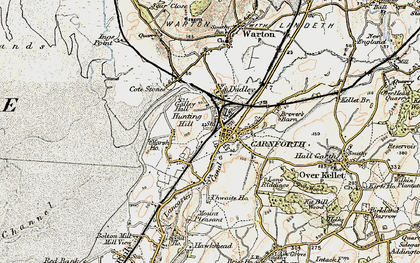 Old map of Carnforth in 1903-1904