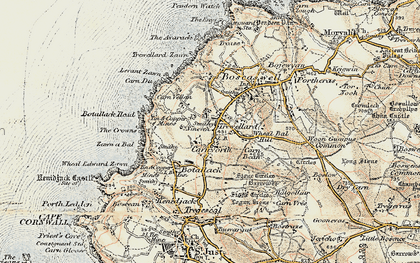 Old map of Carnyorth in 1900
